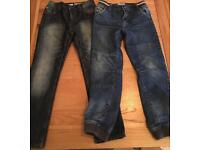 Two pairs boys jeans age 8