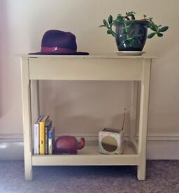Wooden Hall Table with Drawer & Shelf / Telephone Table / Shabby Chic / Upcycling