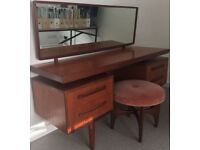 1960s G Plan Fresco Teak Dressing Table and matching Foot Stool