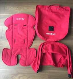Icandy Apple ,red hood and seat liner