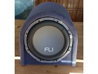 Fli 1000watt Sub with built-in Amp. Great bass.