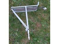 Rear bike rack - strong and reliable - height adjustable for different wheel sizes