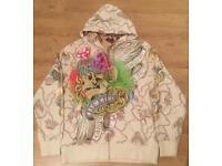 "Brand new authentic Christian Audigier men's luxury ""Chained Skull"" designer hoodie. Size Large"