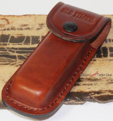 (USA Schrade Old Timer Leather Belt Sheath Skinning Hunting Folding Pocket Knife)
