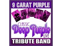 9 Carat Purple … Are FREELY available to play Deep Purple at Coventry Charity / Community Events