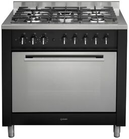 Indesit dual fuel top of the range professional cooker with wok burner (offers for quick pick up)