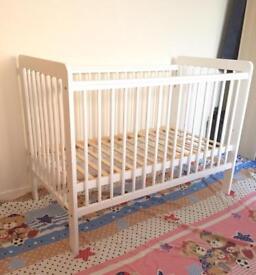 John Lewis white cot bed