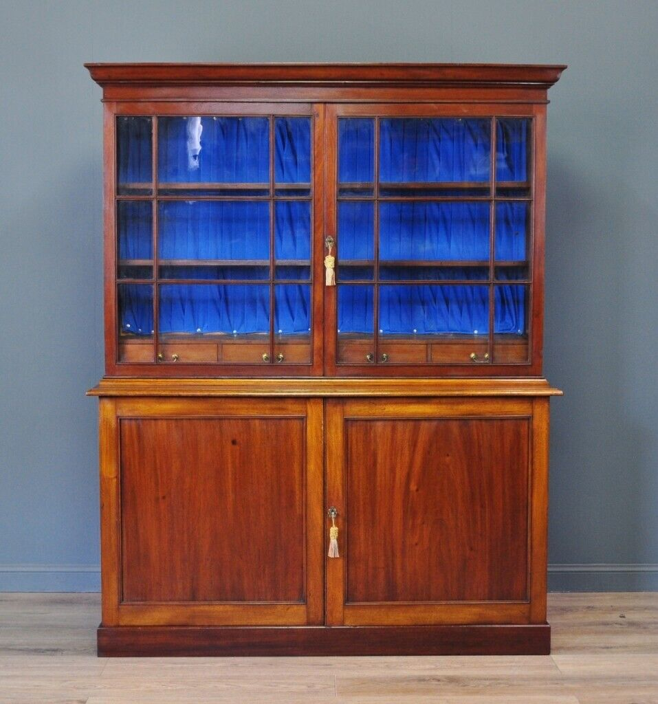 Attractive Antique Victorian Mahogany Glazed Bookcase Cabinet Internal Drawers In Forfar Angus Gumtree