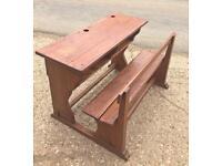 Child's oak school desk ✍️