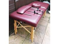 BURGUNDY LUXURY PORTABLE MASSAGE TABLE