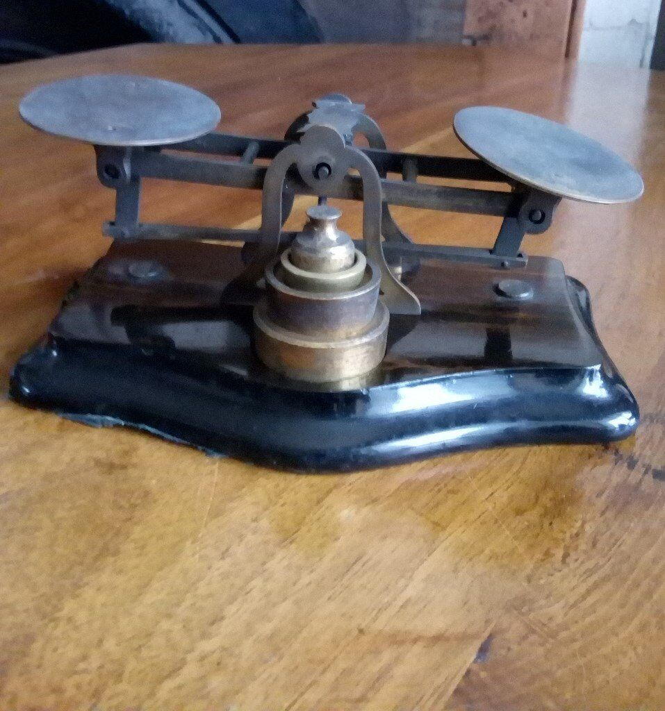 VINTAGE POST OFFICE LETTER SCALES AND WEIGHTS
