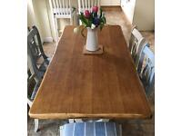 Table ONLY Solid Oak Narrow Dining Table 6 Seater Traditional Wood