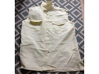 Sleeveless champagne coloured linen blouse - good condition