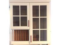 Bespoke glass fronted cabinet