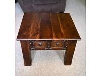 Solid Dark Wood Coffee Table.