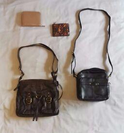 2 x Ladies' Shoulder / Handbags and 2 x Purses, Excellent Condition
