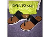 River island sandals / shoes size 5 Also VIA PAYPAL