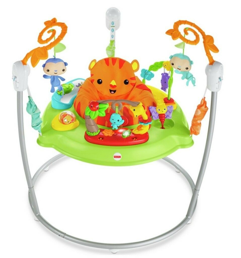 6e49b1adbc09 Fisher-Price Roaring Rainforest Jumperoo Baby Jumper Bouncer ...