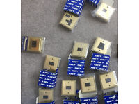 Brass light switches / plug socket plates - new in packs