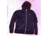 NORTH FACE BLACK FULL ZIP HOODED TOP [L]