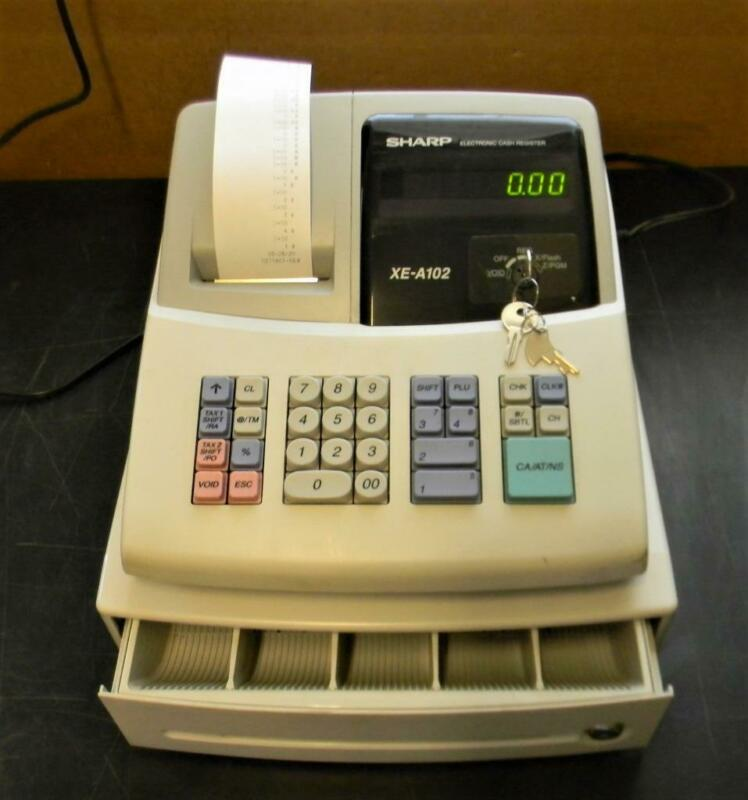 Sharp XE-A102 electronic cash register keys manual, ready to  go!!   S60 13#