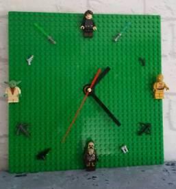 Lego board mini figure clocks