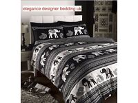 EMPIRE BLACK SINGE DOUBLE KINGSIZE SUPER KINGSIZE DUVET SET