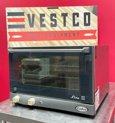 Cadco Xaf-013 3 Pan Half-size Counter Top Electric Convection Baking Oven