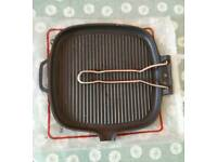 Heavy cast iron meat grill