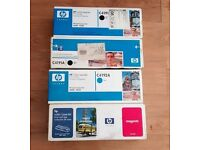 4 x New HP Toner Cartridges + Free HP Color LaserJet Printer Model No 4550 DN