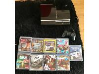 PlayStation 3 80GB and 9 games