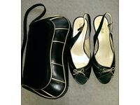 Van Dal leather shoes & matching bag