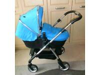 Silver Cross Wayfarer in Blue with Carrycot