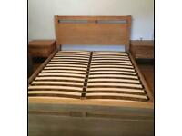 Cargo Solid Oak King size bed frame