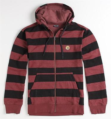 Volcom Stone Eds Basic Stripe Zip Hoodie Fleece Sweatshirt Jacket New NWT Stripe Zip Fleece