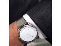 NEW FRENCH CONNECTION Mens Watch with White Dial Analogue Display Stainless Steel Bracelet