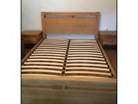 Solid Oak Cargo king size bed frame