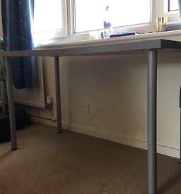 Grey-silver Ikea desk/table