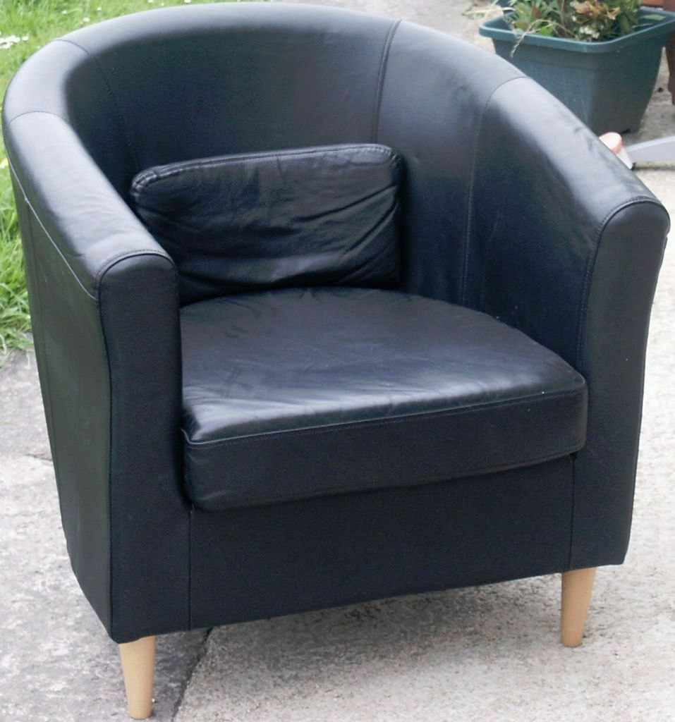 IKEA Black Tub Chair, Looks Like Leather?