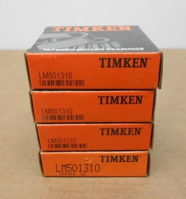 Lot Of 4 Nib Timken Lm501310 Tapered Roller Bearing Cup 2.891 X 0.58 2 Avail