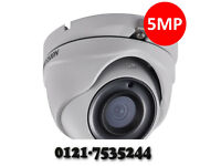 cctv camera 5mp hikvision system high quality supplied and fitted