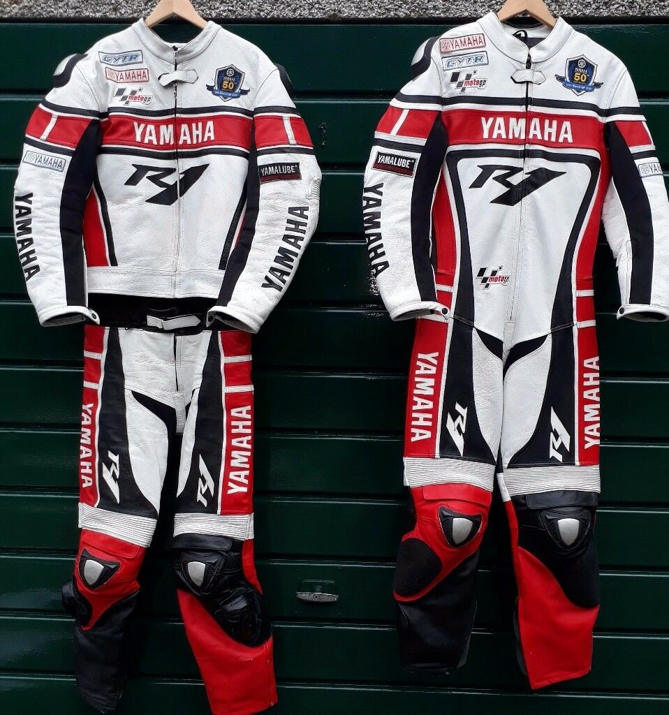 Yamaha R1 50th Anniversary Motorcycle Leathers For Sale