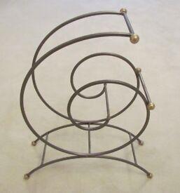 Unusual decorative wine rack