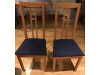 2 IKEA dining chairs.