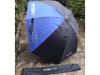 Large matrix X3 125cm Umbrella - Fishing Brolly with Bag & Pegs MINT CONDITION