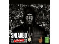 20.04.18 3 SNEAKBO TICKETS FOR SALE