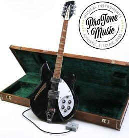 1991 Rickenbacker 360/12 String Jetglo & Old Gibson Hard Case