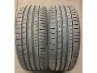 225 40 18 CONTINENTAL CONTACT 5 USED TYRES.
