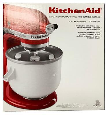 NEW KitchenAid Ice Cream Maker Accessory Stand Mixer Attachment KICA0WH