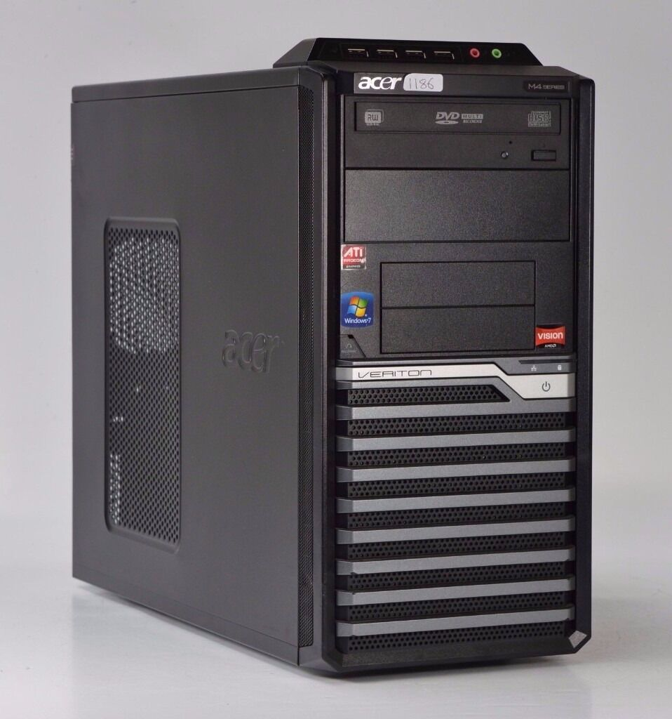 WINDOWS 7 ACER VERITON M430G DUAL CORE 2.80 TOWER PC COMPUTER - 2GB RAM - 320GB